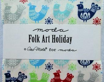 Moda Charm Pack ~ Folk Art Holiday