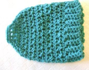 Hand Crocheted Ponytail / Messy Bun Hat