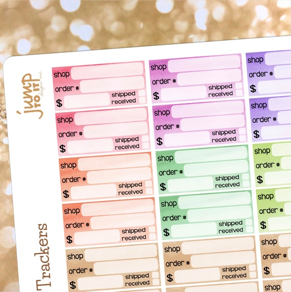 51a41463a1b6b Order tracker planner stickers | for Erin Condren Happy Planner - package
