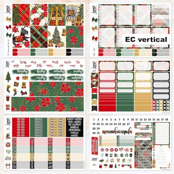 Neige Jours Deluxe Autocollant Kit pour le Erin CONDREN vertical Planner