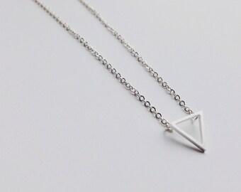 Favoriete Gouden Driehoek driehoek ketting hanger ketting moderne | Etsy @GH62
