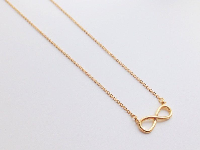 Unendlich Einfache Schmuck HalsketteAnhänger MinimalistischMinimalismusNiedliche Gold wPXnk08O