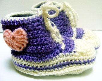 Crochet PATTERN - Hi Top Sneakers For Baby - Instant Download
