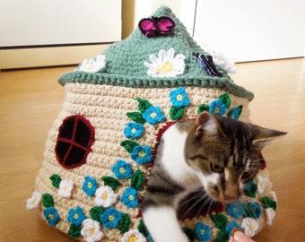 Fairy Tale Cat Cave Crochet Pattern