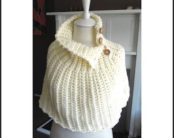 Capelet Crochet Pattern, Bridal Cape, Wedding Capelet, Bridal Capelet, Oversized Scarf, Easy Crochet Pattern, Chunky Scarf, pdf Pattern