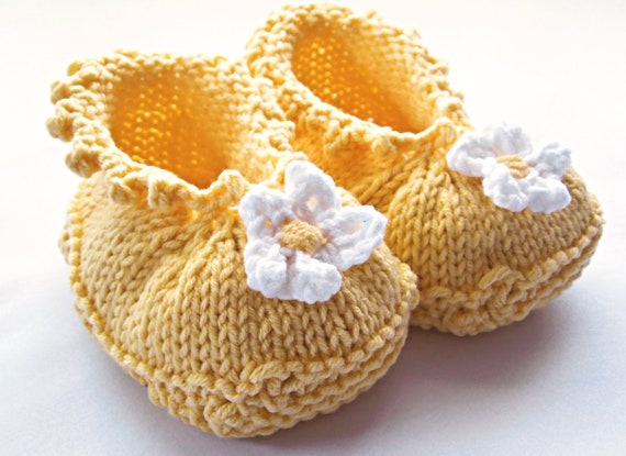 Baby Booties Knitting Pattern Baby Girl Shoes Baby Shoes Etsy