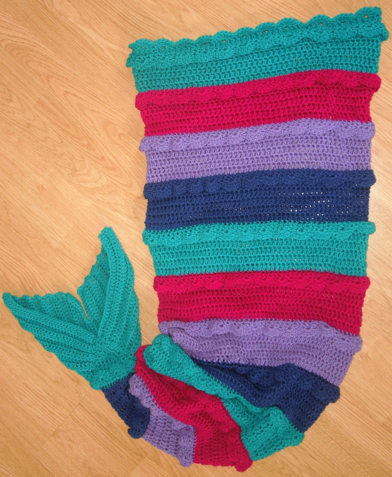 Mermaid Tail Blanket Crochet Pattern Pattern Mermaid Tail Etsy