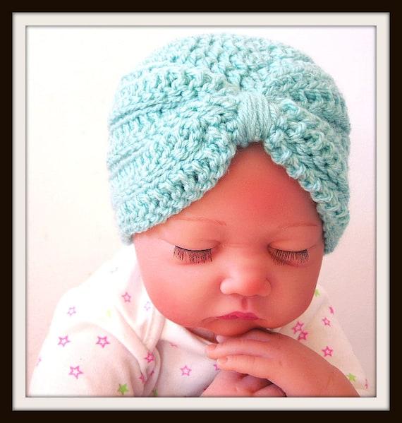 Baby Turban Crochet Pattern Baby Hat Photo Prop Newborn Etsy