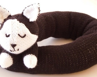 Knitting PATTERN - Kitty Draft Excluder/Draught Excluder - Instant Download