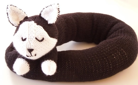 Knitting Pattern Kitty Draft Excluderdraught Excluder Etsy