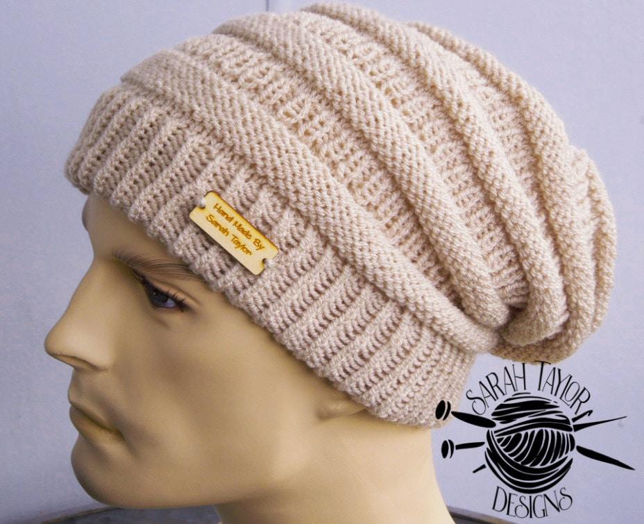 Hipster Beanie Hat Knitting Pattern Hipster Beanie Men   Etsy