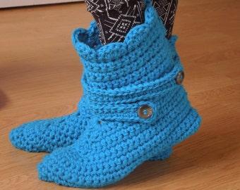 Slipper Boots Crochet Pattern, Womens Boot Slippers, House Boot Slippers, Gift For Her, Gift For Mom, House Shoes, Crochet Slippers