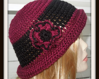 Crochet PATTERN - Cloche Hat, Quick and Easy Project - Instant Download