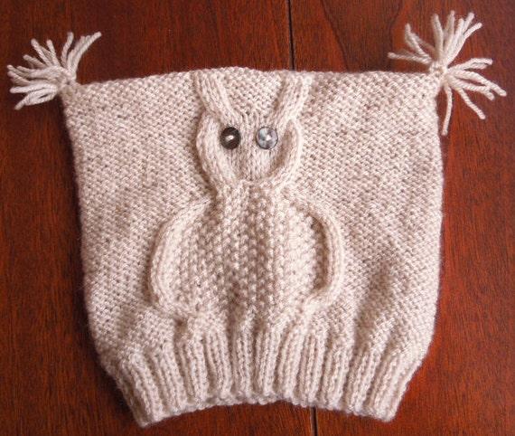 Owl Hat Knitting Pattern Owl Hat Baby Knit Hat Pattern Baby Etsy
