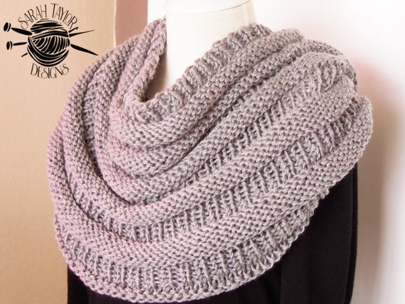 Oversized Scarf Knitting Pattern Infinity Scarf Circle Etsy