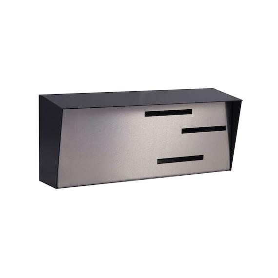 Modern Mailbox Mid Century Modern Mailbox Horizontal Black Stainless