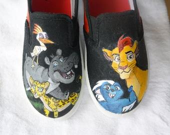 Peints à la main Lion garde chaussures
