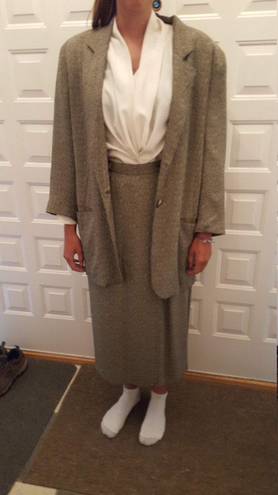 Two Piece Herringbone Suit - image 4