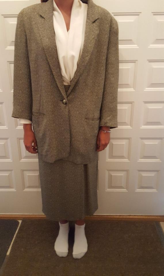 Two Piece Herringbone Suit