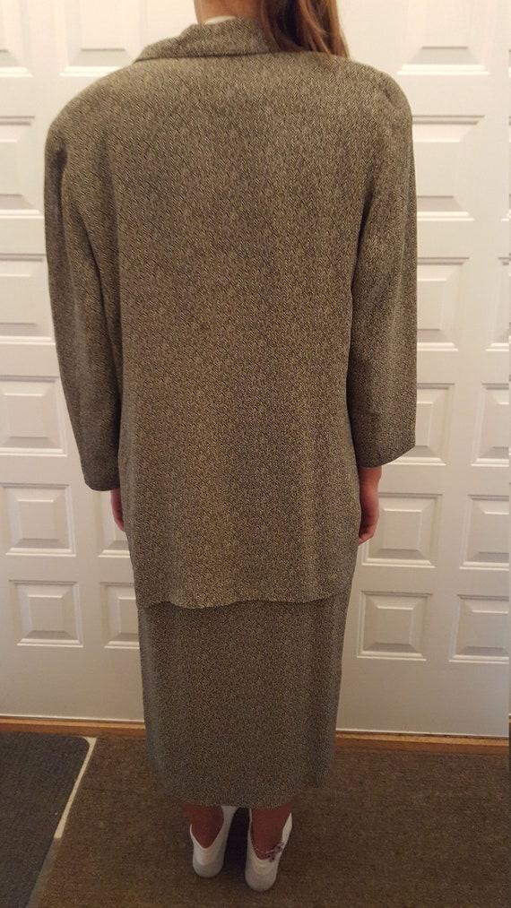 Two Piece Herringbone Suit - image 3