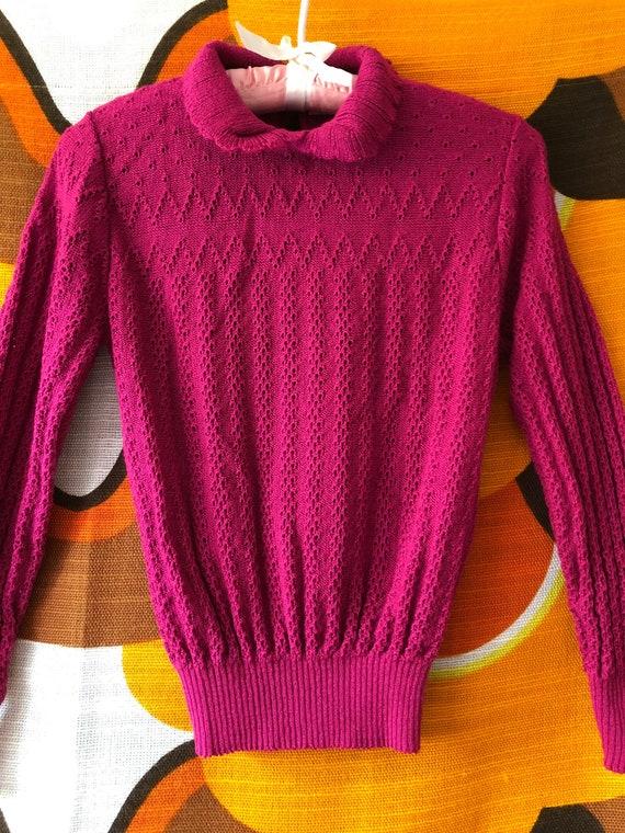 Vintage 70's 80's  Acrylic Summer Nylon Sweater To