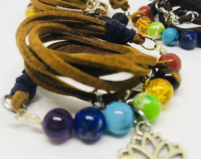 Featured listing image: 7 Chakra Beaded Wraped Bracelets