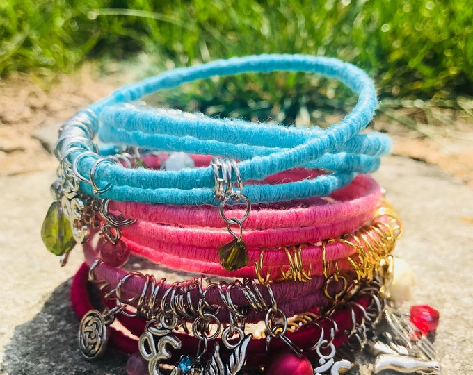Featured listing image: Colored Wrap Bangles Bracelets