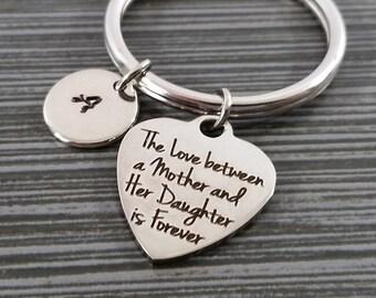Mother Daughter Keychain - Gift for Mom - Custom Gift - Mothers Day Gift - Mom Daughter Keychain - Custom Mother Keychain Gift for Daughter