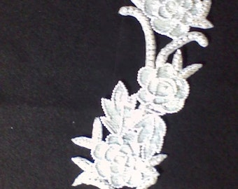 2) - Pearl and sequin applique