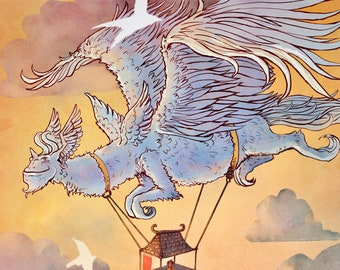 Dragon Mobile Home - Signed Fine Art Print