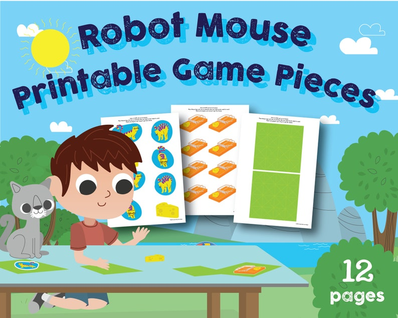 image regarding Game Pieces Printable known as Robotic Mouse Sport Sections, Printable, 1st Quality, Coding, Robotics, STEAM, Preschool, Kindergarten Clroom, house higher education, Uppercase, Lowercase
