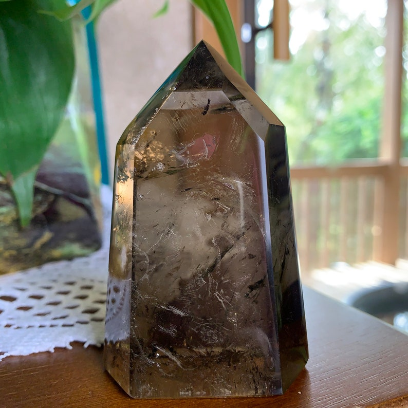 Fully Polished Smoky Citrine Crystal Point From Madagascar // image 0