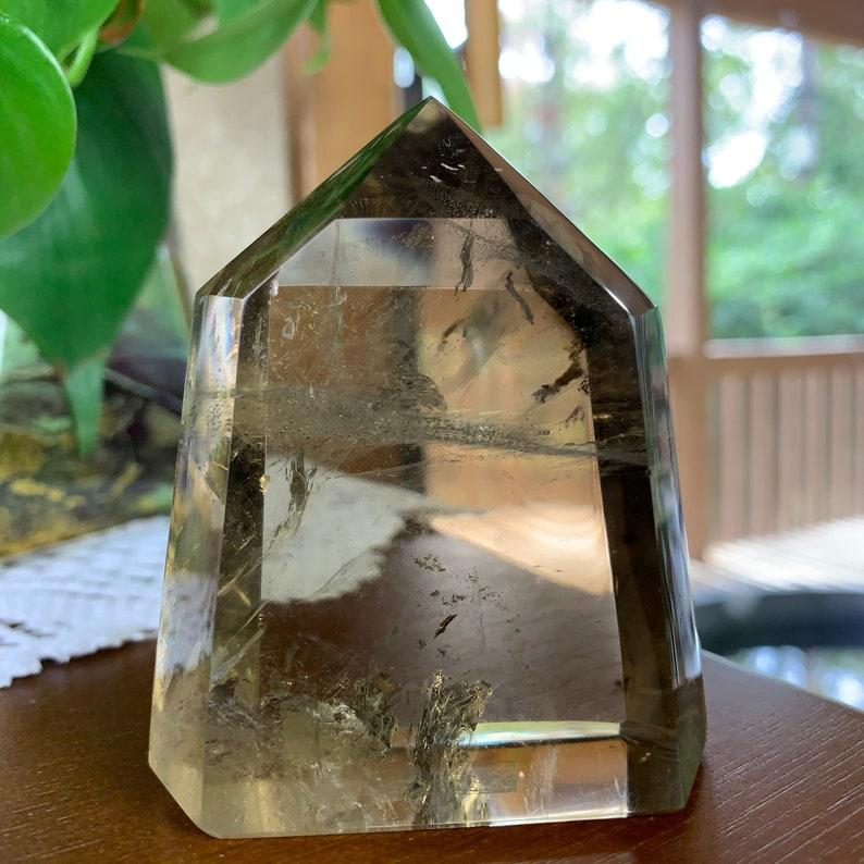 Fully Polished Smoky Citrine Crystal Point From Madagascar // image 0