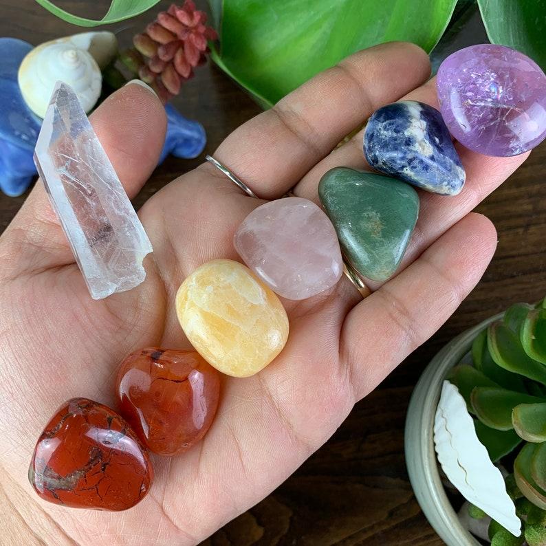 8 Piece Tumbled Stone Chakra Set // Meditation Reiki Chakra image 0