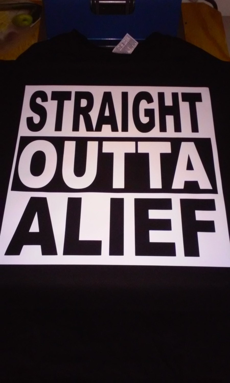 Straight Outta Alief T Shirt Custom Tee Rep Your Hood Etsy