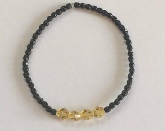 November Birthstone bracelet, Birthstone bracelet, Citrine bracelet, yellow bracelet