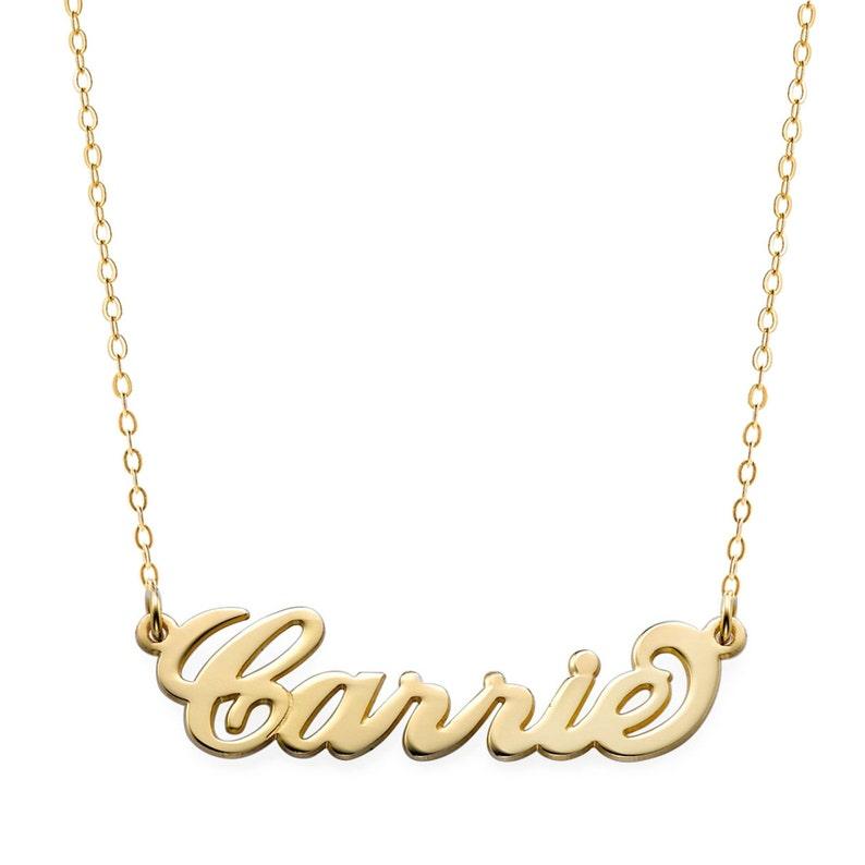 b0b3eac5d958 Personalizado seleccione hecho Carrie estilo placa collar