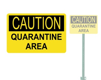 graphic relating to Quarantine Sign Printable known as Quarantine signal Etsy