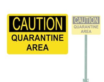 photograph about Quarantine Sign Printable called Quarantine indicator Etsy