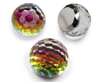 Vintage lucite crystal Fireball - medium vitrail - 18mm - 2 pcs - C27