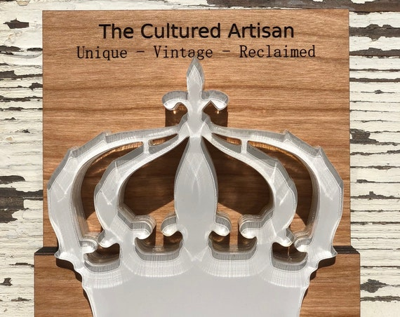 TCA Crown Coaster - White  | Acrylic Coaster | White Coasters | Set of 4 With Holder | Unique Gift