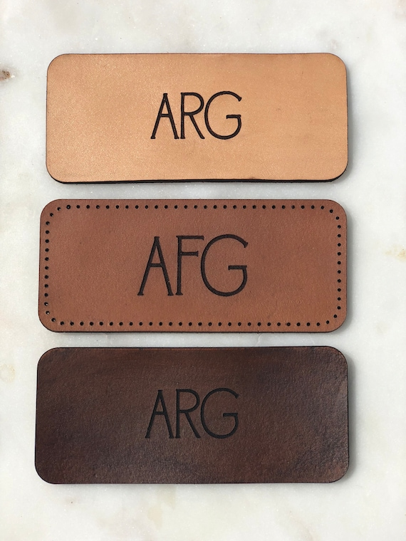 "4"" x 1.75"" Rectangle Leather Patch 