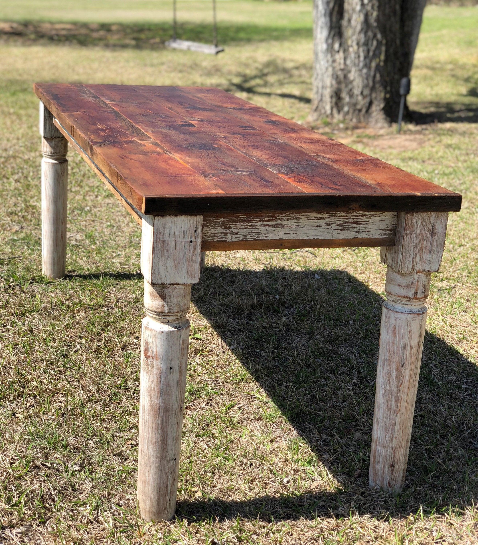 Classic Farm House Table | Reclaimed Wood Table | Salvaged Wood Table |  Farm House Style | Harvest Table