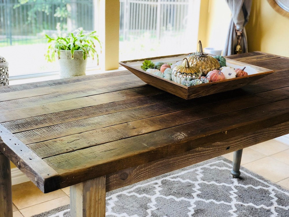 Classic Counter Height Table | Farm House Table | Reclaimed Wood Table | Salvaged  Wood Table | Farm House Style | Harvest Table