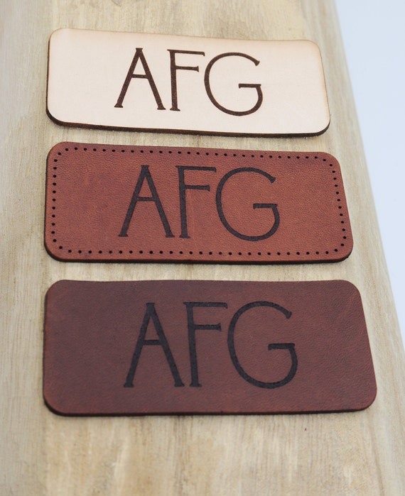 """4"""" x 1.75"""" Rectangle Leather Patch 