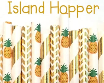 Pineapple Party Straws