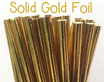 2.85 US Shipping -Gold Foil Paper Straws  -  Gold Straws- Cake Pop Sticks - Drinking Straws - New Years Eve Straws