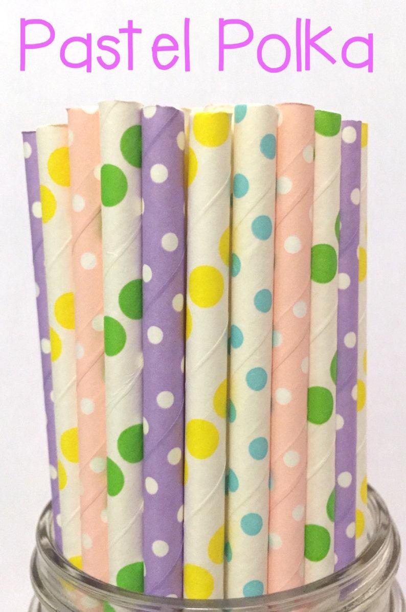 Easter paper straws Drinking Straws Spring Paper Straws Cake Pop Sticks