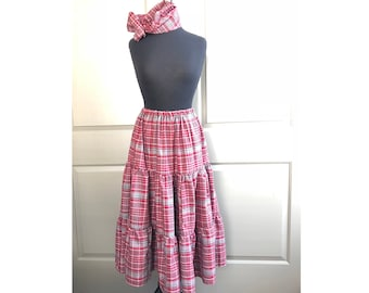 83c550755027b Jamaican Bandana Skirt with Head Wrap, Heroes Day, Adult Bandana Skirt,  Jamaica Clothing, Quadrille,Independence