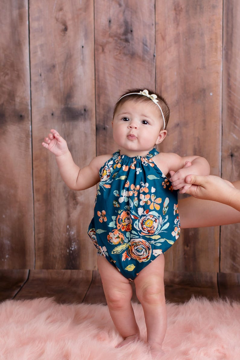 261713f4e25a Boho Floral Bubble Romper Baby Romper Fall Bohemian Photo | Etsy